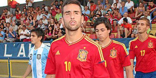 Nono ha sido convocado por la selección española sub 20 para un amistoso el próximo martes ante Paraguay.