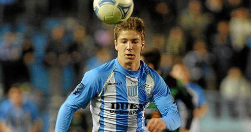 Luciano Vietto, delantero internacional con la selección argentina sub 20.