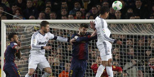 El Real Madrid durante su último encuentro en Copa