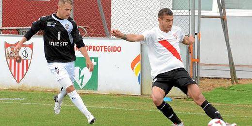 Imagen del partido Sevilla Atlético-Albacete.