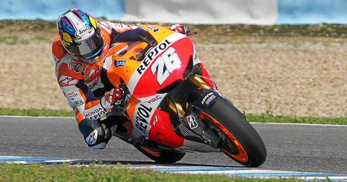 Dani Pedrosa durante el Gran Premio de Jerez.