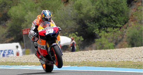 Dani Pedrosa durante el pasado Gran Premio de España en Jerez.