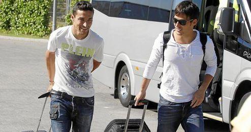 Jesús Navas y David Silva ya son también compañeros de equipo, de ahí la buena sintonía entre ambos.