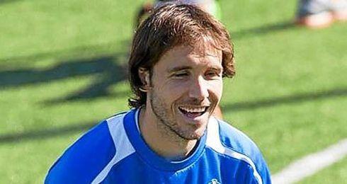 Verdú, durante un entrenamiento con el Espanyol.