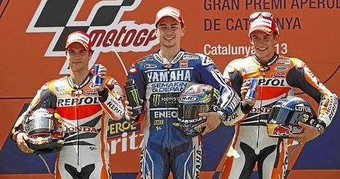 Jorge Lorenzo fue el ganador en la categoría de MotoGP que sigue liderando Dani Pedrosa.