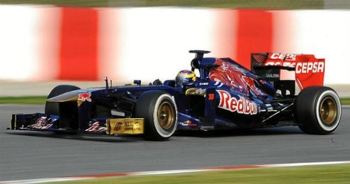Coche de Red Bull durante el Gran Premio de Barcelona.