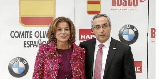 Ana Botella y Alejandro Blanco apoyando la candidatura Madrid 2020