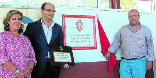 Joaquín Rodríguez (derecha) en un acto de agradecimiento a Pepe Castro por su apoyo.