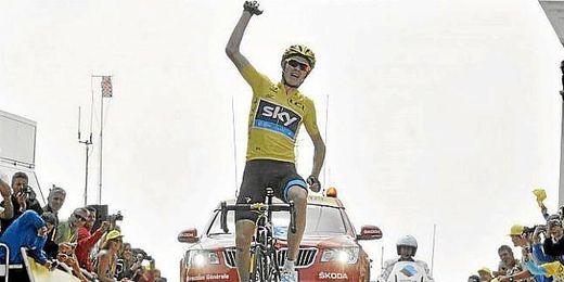 Chris Froome se impone en el Mont Ventoux.