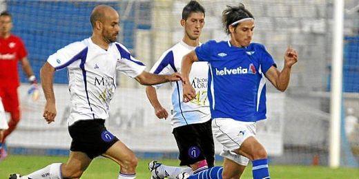 El Écija contra el Jaén durante un partido de la temporada pasada.