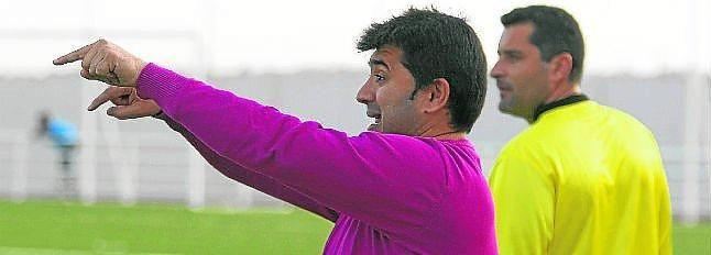 José Santizo durante un entrenamiento.