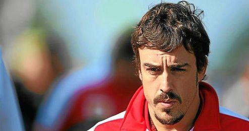 Fernando Alonso, durante el Gran Premio de Alemania en Nurburgring.