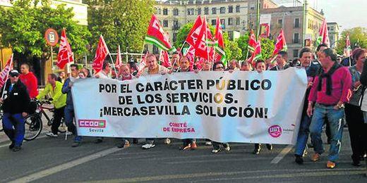Los trabajadores de Mercasevilla volverán a salir a la calle para protestar por el posible ERE