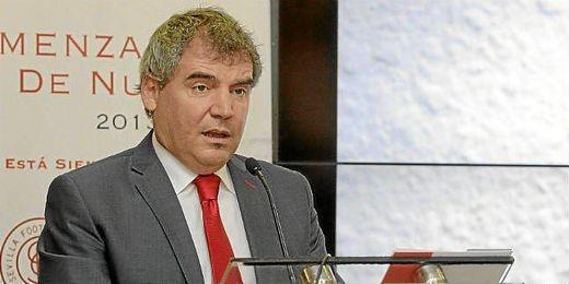 Manuel Vizcaino, durante la presentación de la campaña de abonos.
