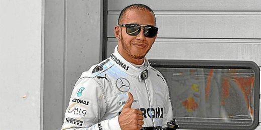 Hamilton durante el GP de Alemania 2013