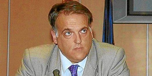 Javier Tebas durante una comparecencia ante los medios