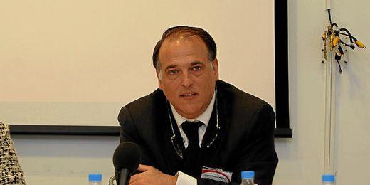El presidente de la Liga de Fútbol Profesional, Javier Tebas.