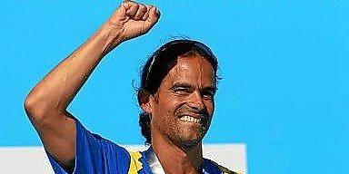 El colombiano Orlando Duque en el podio barcelonés