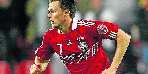 El internacional danés William Kvist, durante un encuentro con su selección.