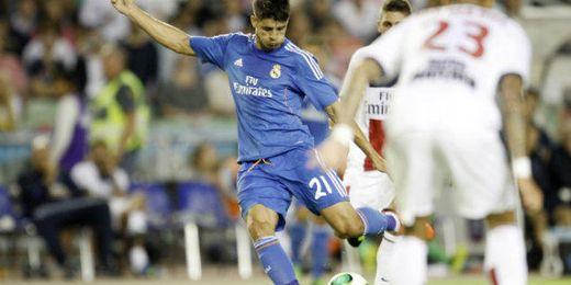 Morata durante el amistoso entre el PSG y el Real Madrid.
