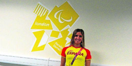 Marta Gómez Battelli posando durante los Juegos Paralímpicos que se disputaron en Londres el año pasado.