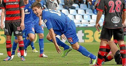 Fede Fern�ndez celebra un tanto conseguido ante el Celta de Vigo la temporada pasada.