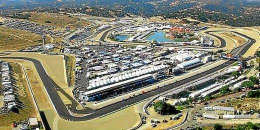 Imagen aérea del circuito de Laguna Seca, California.