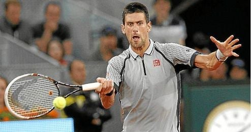 El tenista serbio Novak Djokovic durante un partido.