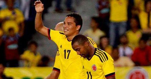 Carlos Bacca, con la selección de Colombia.