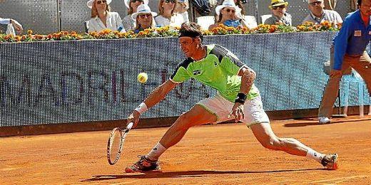 David Ferrer durante un partido del pasado Mutua Madrid Open.