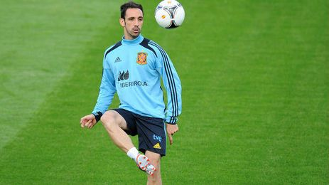 Juanfran en un entrenamiento con la Selección Española.