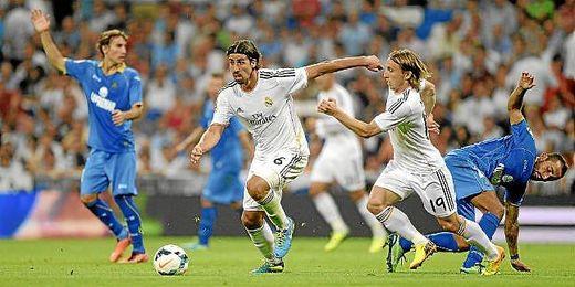 Khedira y Modric en un partido frente al Getafe.