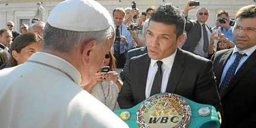 Sergio ´Maravilla´ Martínez ha sido el único púgil recibido por el Papa.