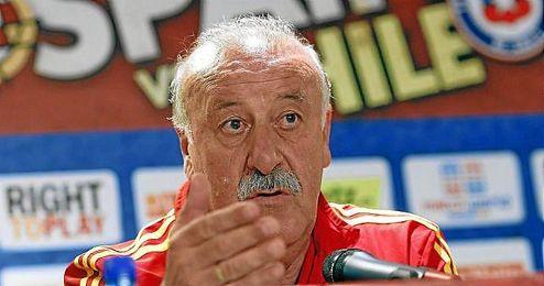 Vicente del Bosque durante una rueda de prensa.