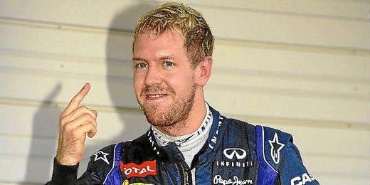 Vettel celebra una de sus victorias.