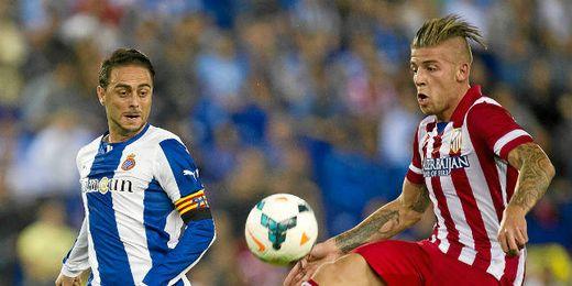El belga Alderweireld en su debut en Cornellá el pasado sábado.