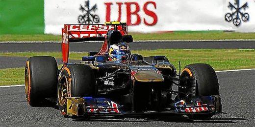 Ricciardo durante los entrenamientos libres en el circuito de Suzuka.