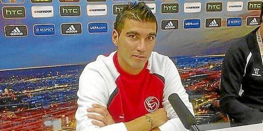 José Antonio Reyes, en la sala de prensa.