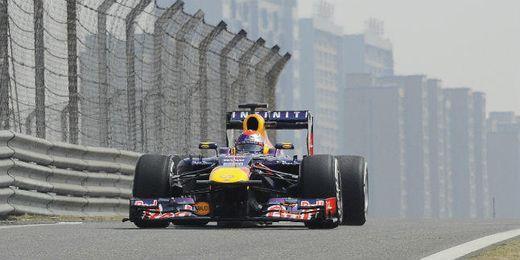 Sebastian Vettel durante el G.P. de China.