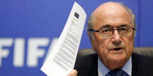 Blatter durante una rueda de prensa.