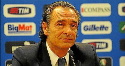 Prandelli durante la presentación como seleccionador de Italia.