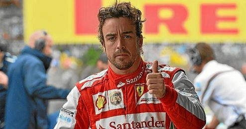 Alonso durante los entrenamiento del GP de F1 de Brasil.