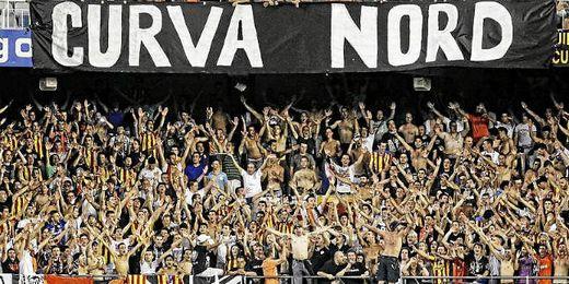 Ultras del Valencia, en Mestalla