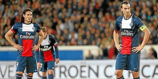 Cavani e Ibrahimovic, durante un encuentro de esta temporada.