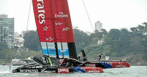 El Team New Zealand durante una competición.