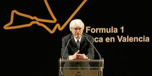 Bernie Ecclestone, duarante un acto en CEO de la FOM.