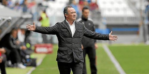 JIM en el partido ante el Málaga.