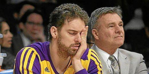 Pau Gasol sufrió mareos en un partido de la NBA.
