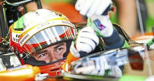 Sergio Pérez durante el Gran Premio de Australia.