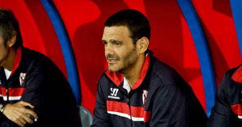 Ramón Tejada durante un encuentro de esta temporada.
